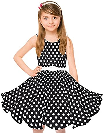 237a21acad5997 Girls 50s Vintage Swing Rockabilly Retro Sleeveless Party Dress for Occasion