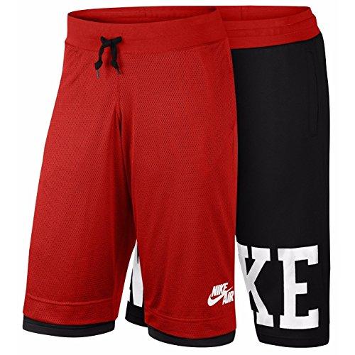 Nike Heren Omkeerbare Pick-up Game Basketbal Shorts Rood