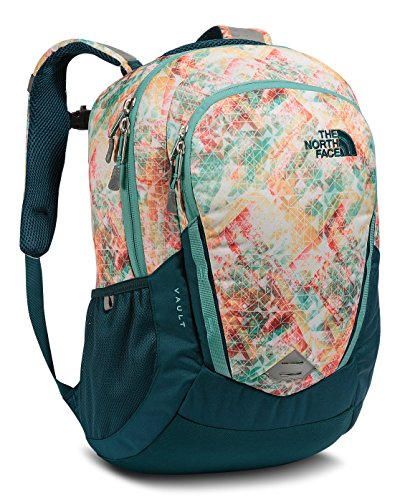 the-north-face-womens-vault-backpack-golden-haze-neon-geo-print-deep-teal-blue-one-size