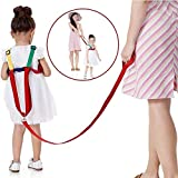 SUNTA Toddler Leash & Harness for Child Safety,2 in 1 Anti Lost Wrist Link Baby Walking Harness for 0-5 Years Kids (Yellow&Green)