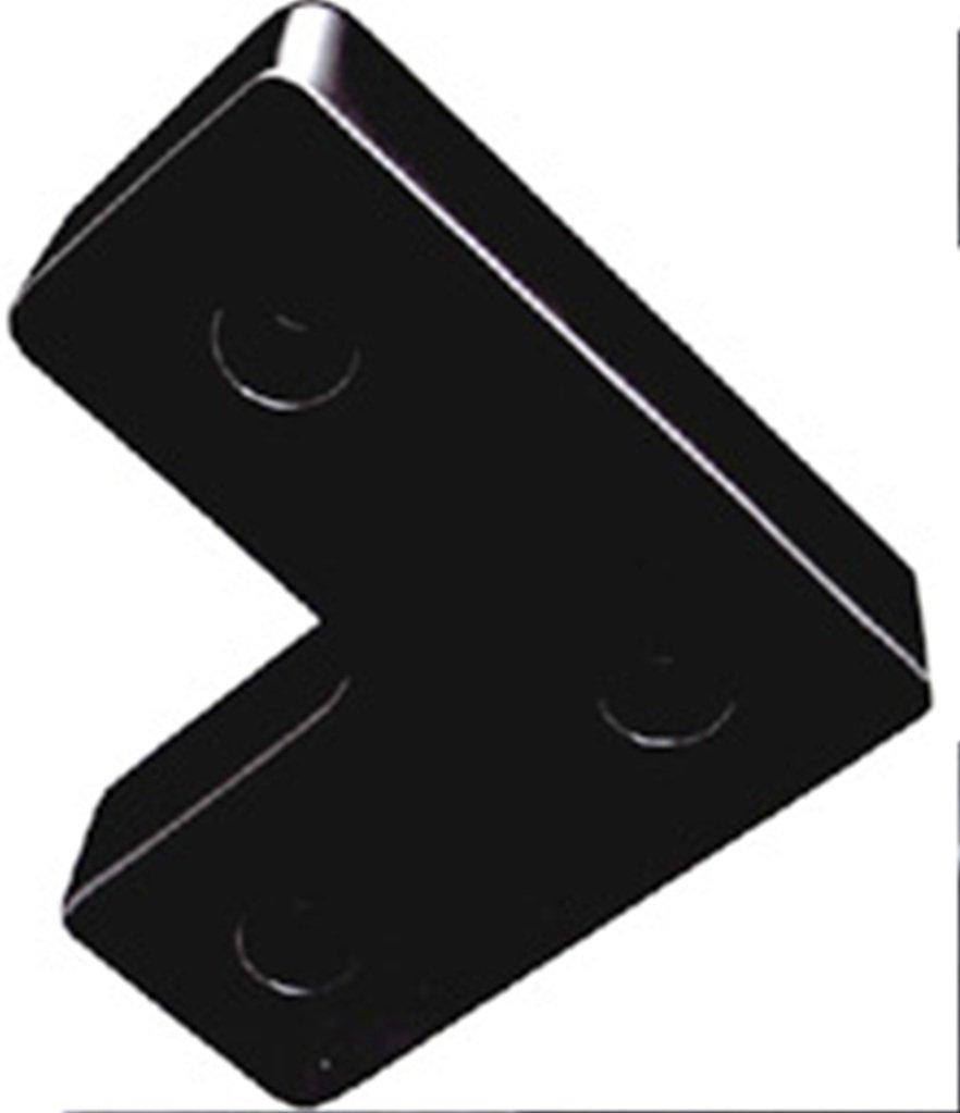Durable Corporation Rubber Molded Bumper, L-Shaped, 3 Holes, 18'' Length, 18'' Width, 4-1/2'' Depth
