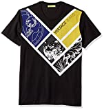Versace Jeans Men's Mondrian Graphic Tee, Nero, XL