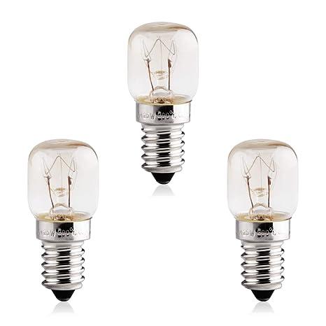 B4U 3 x 25W E14 bombillas horno rosca para refrigerador ...