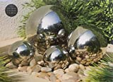 Mason & Jones Stainless Steel 4pc Gazing Balls Garden Decoration