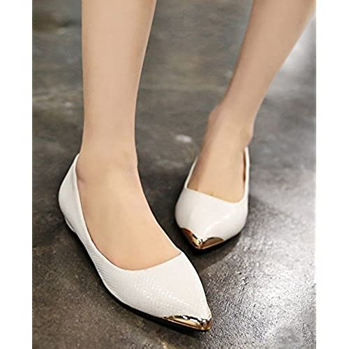 310adcdd1 Aisun Women's Simple Low Cut Pointed Toe Professional Wear To Work Office  Dress Slip On Flats