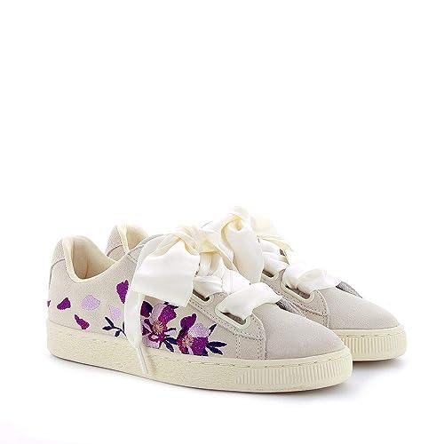Flowery Fiori Suede Eu38 Sneakers Heart Puma Donna 5 ZU7SnqwW
