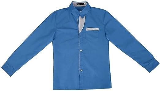 Queenaal Camisas Hombre Camisa a Rayas Algodón Slim Fit Camisa de Manga Larga Hombres Modelo Camisas (Azul Oscuro): Amazon.es: Hogar