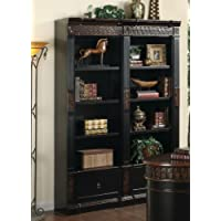 Coaster Home Furnishings 800922 Traditional Bookcase, Black and Cherry