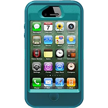 741576eafbbb22 OtterBox Defender Series Case and Holster for iPhone 4 4S - Retail  Packaging - Teal