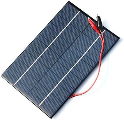 TOOGOO 4,2 W 18 V Solarzelle Polykristalline Solarpanel + Krokodilklemme Fuer Die Aufladung 12 V Batterie 200x130x3 mm