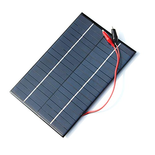SODIAL 4.2W 18V cella solare policristallino Pannello solare + coccodrillo per ricarica batteria 12V 200x130xM 160041