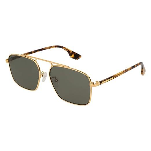 3e21b098f7e Sunglasses Alexander McQueen MQ 0094 S- 005 GOLD GREEN HAVANA at ...