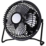 Alera FAN041 4 in. Mini Personal Steel Cooling Fan, Black & Silver by Alera