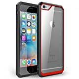 iPhone 6s Plus Case, iVAPO [Shock Absorbent] iPhone 6 Plus Case Clear PC/ TPU Bumper, Hybrid Protective Case for Apple iPhone 6s Plus (2015) & iPhone 6 Plus (2014) (MM613) (Red) by iVAPO