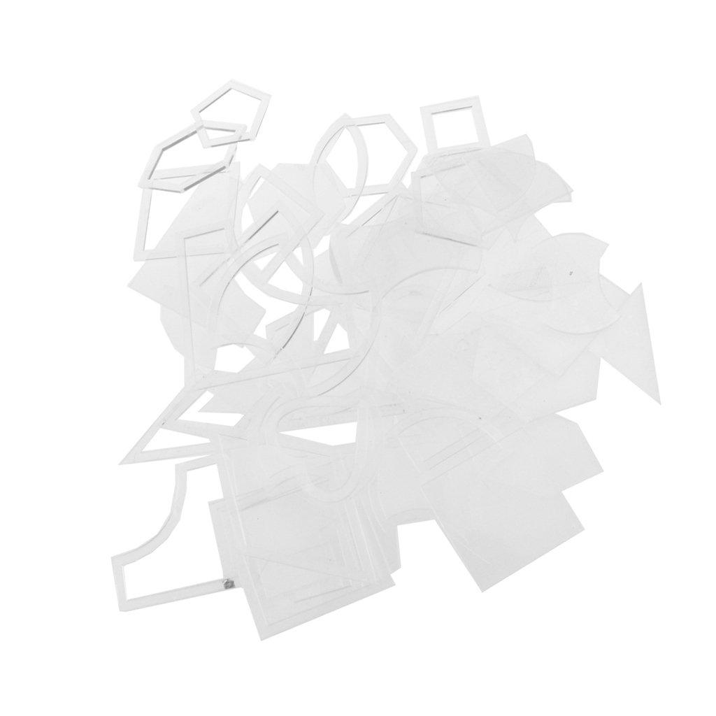 Gazechimp 54pcs Conjunto de Plantillas Acolchar Set de Acrílico ...