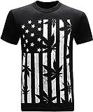 weed pot - United States of Amarijuana 420 Pot Weed Stoner Marijuana Men's Funny T-Shirt - (Large) - Black