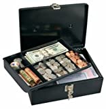 2 x Master Lock 7113D Cash Box with 7-Compartment Tray