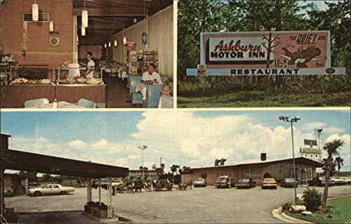 Ashburn Motor Inn/Honeybear Restaurant - 3 views Ashburn, Georgia Original Vintage Postcard from CardCow Vintage Postcards