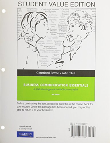 Business Communication Essentials, Student Value Edition (4th Edition)