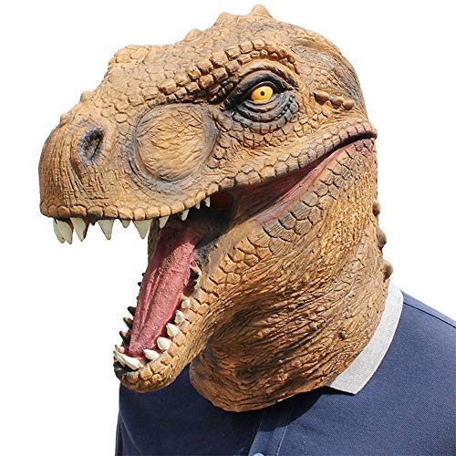Dinosaur Latex Mask,Costume Party Decorations, Halloween Props, Halloween Supplies
