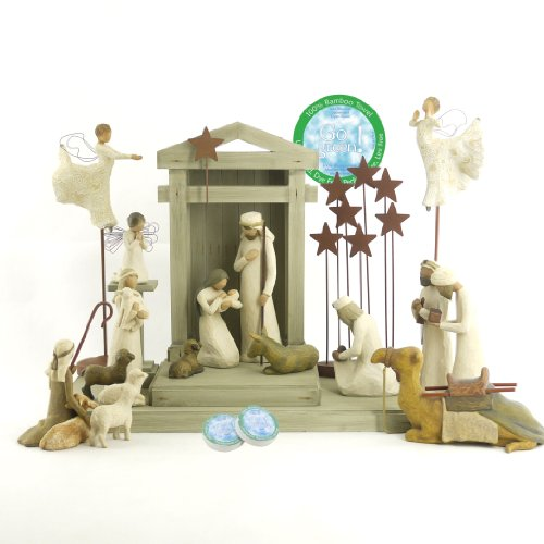 Willow Tree 19 Piece Nativity Set by Willow Tree