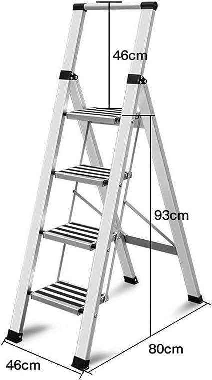 C-J-Xin Ensanchamiento del pedal Escalera, cuatro pasos anti-deslizante Altura seguridad del metal de tijera Las escaleras de tijera familia de funcionamiento: 36,6 pulgadas Escalera de casa: Amazon.es: Bricolaje y herramientas