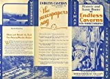 Endless Caverns Brochure & Scenic Route Map Shenandoah Valley Virginia 1930's