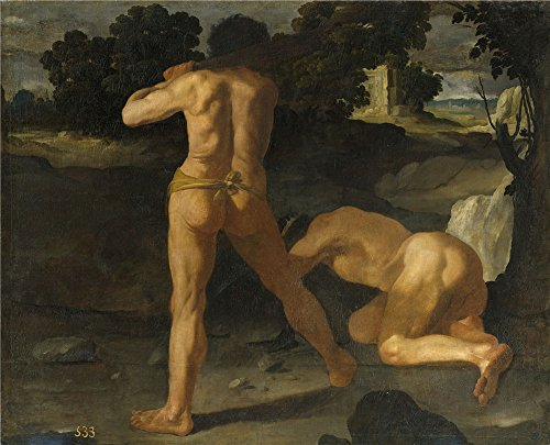 Polyster Canvas ,the Cheap But Art Decorative Art Decorative Canvas Prints Of Oil Painting 'Zurbaran Francisco De Hercules Vence Al Rey Gerion 1634 ', 16 X 20 Inch / 41 X 50 Cm Is Best For Bathroom Decoration And Home Decoration And Gifts ()
