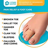 Hammer Toe Straightener Corrector Splint - 4 Broken