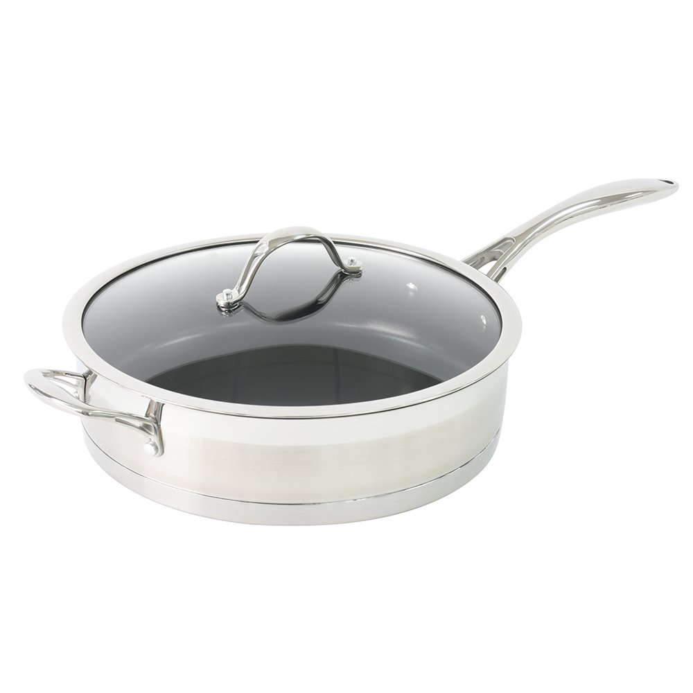 ProCook Professional Stainless Steel Induction Non-Stick Saute Pan with Lid 28cm / 4.3L