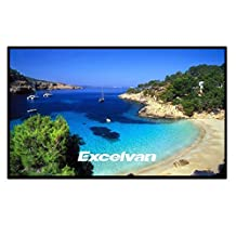 Excelvan Portable Collapsible 16:9 1.1 Gain Projector Screen for Home Theater Presentation with Velcros for Easy Installation (84in)