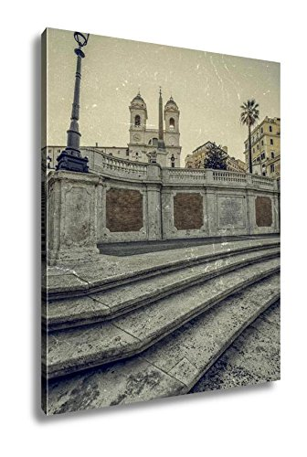 Ashley Canvas Old Photo In Vintage Style With Spanish Steps From Piazza Di Spa, Kitchen Bedroom Living Room Art, Color 30x24, AG6393556