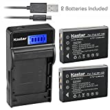 Kastar Battery (X2) & SLIM LCD Charger for Fujifilm NP-120 NP120 FNP120 D-LI7 DB-43 and Fujifilm Finepix 603 M603 F10 F11 Zoom Optio 450 550 555 750 750Z MX MX4 Camera