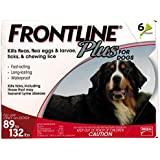 MERIAL T-PET208 Frontline Plus Flea and Tick Control for Dogs and Puppies (6 Pack), 89 to 132 lb