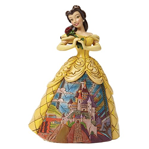 Jim Shore for Enesco Disney Traditions Belle with Castle Dress Figurine, 6