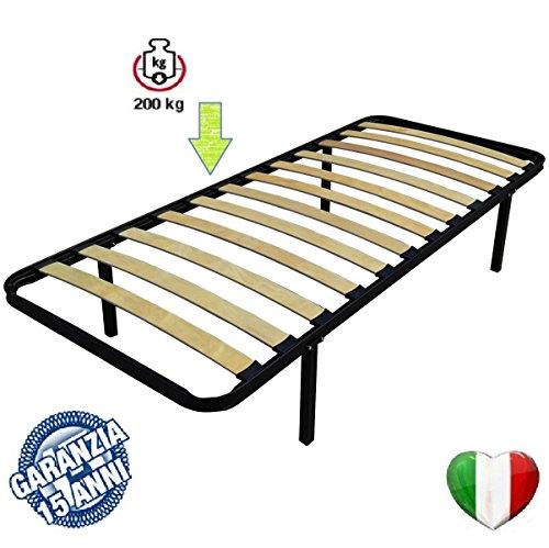 Rete 80x190 letto a doghe singola ortopedica con piedi letti e materassi - Piedi per rete letto ...
