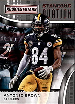 7f499d1aa9f 2018 Panini Rookies and Stars Standing Ovation  6 Antonio Brown Pittsburgh  Steelers NFL Football Trading