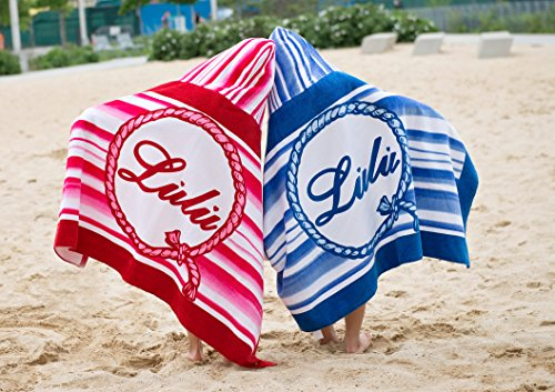 Lulu Two-in-One Extra Large, Super Absorbent, Quick Dry Cotton Beach Towel and Hoodie Perfect for Kids and Teens!