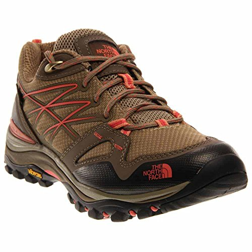 The North Face Hedgehog Fastpack GTX Hiking Shoe - Womens Cub Brown/Fiesta Red, 8.5