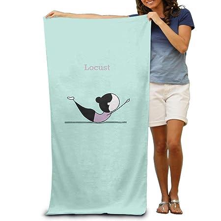 Kaixin J Beach Towel Yoga Pose Locust Microfiber Towel 31x51 ...