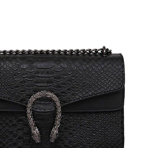 Bandoulière Femmes Nouveaux Carré Qualité Chaîne PU Sac Supérieure Black Styles en dAqTFKa1w