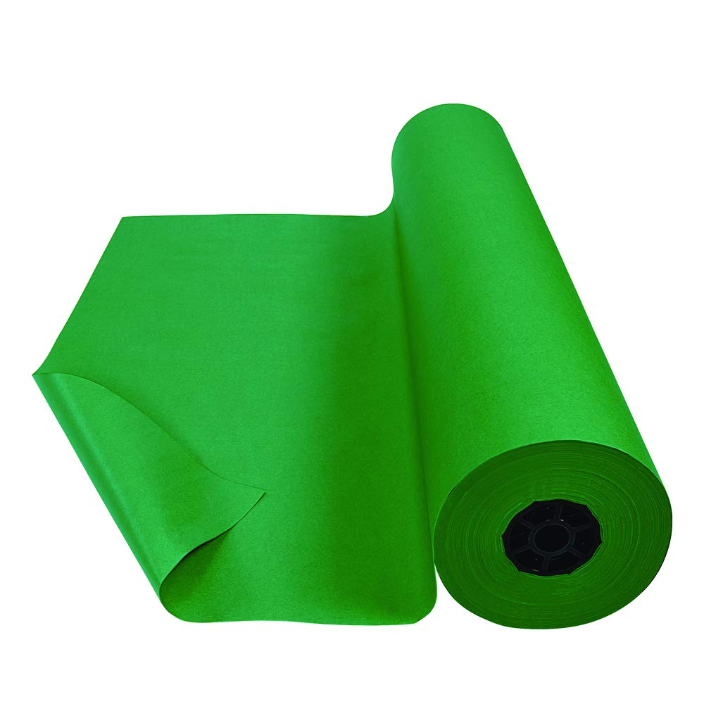Colorations Arts and Crafts Paper Roll - 36'' x 1000', Holiday Green, Dual Surface, Markers, Finger Paints, Painting, Watercolors, Acrylic Paints, Wall Art, Bulletin Board Paper, Crafts (Item # DSHG) by Colorations