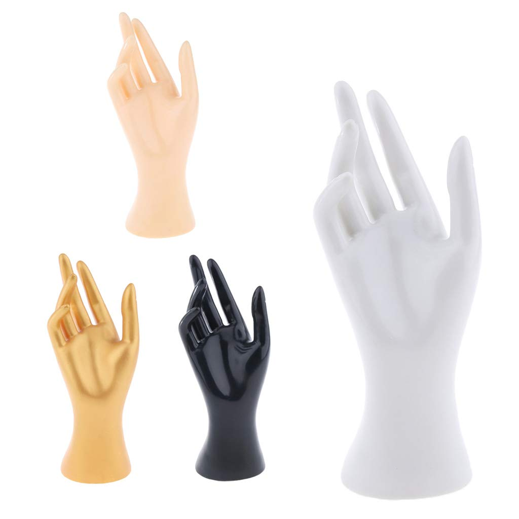 Almencla Female Mannequin Hand Jewelry Bracelet Ring Gloves Display Organizer Stand Wear-Resistant Black