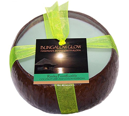 Hawaii Bubble Shack Coconut Candle Rocky Point Rumble Coconut Lime and Lemon Verbena - Coconut Point