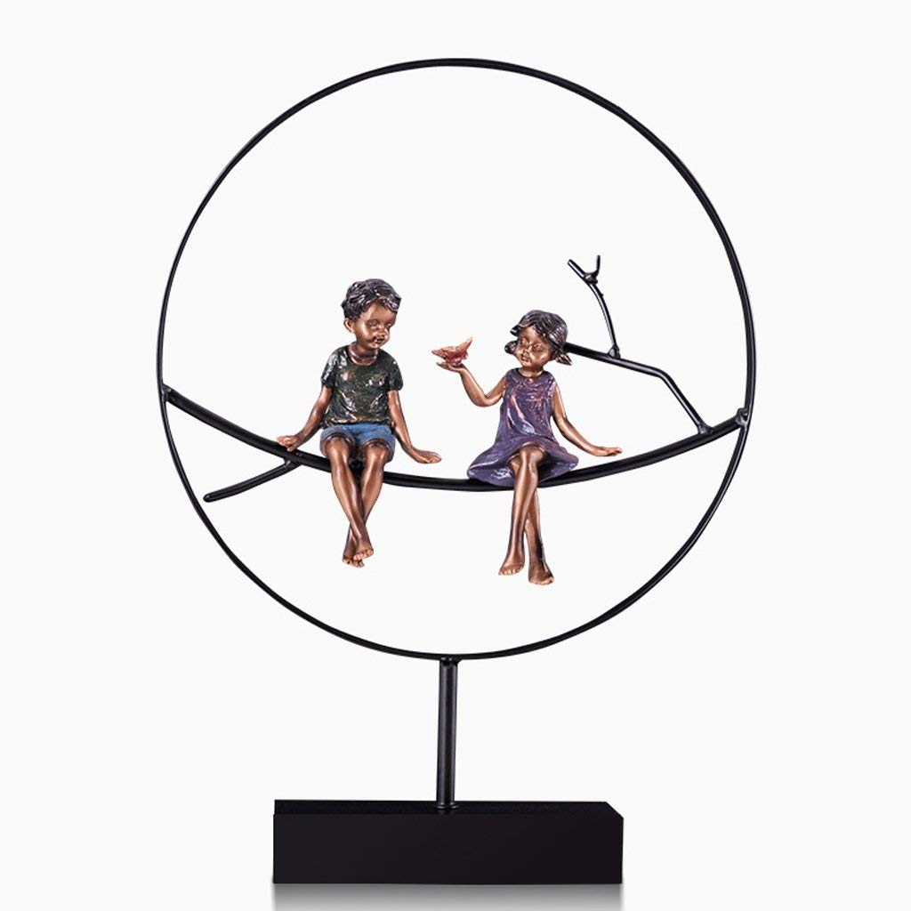 Decoration Creative Art Ornaments Couple Decorations Living Room Office Wine Cabinet Decorations Ornaments Personality Wedding Gifts Crafts Ornaments Decoration (Size : Trumpet)