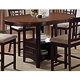 Coaster 105278 Home Furnishings Table, Light Chestnut/Espresso
