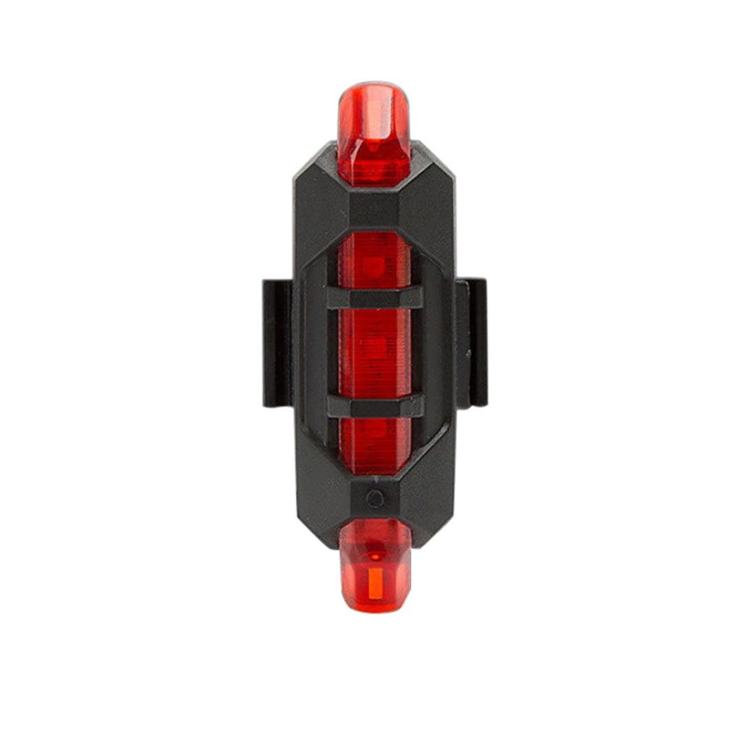 Witspace Bicycle Rear Safety Lamp 5 LED USB Rechargeable Bike Tail Warning Light (Red)