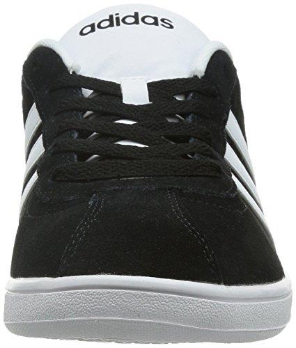 adidas Herren Vlcourt Sneaker, Schwarz, 40 EU Black (Negbas / Ftwbla / Grau)