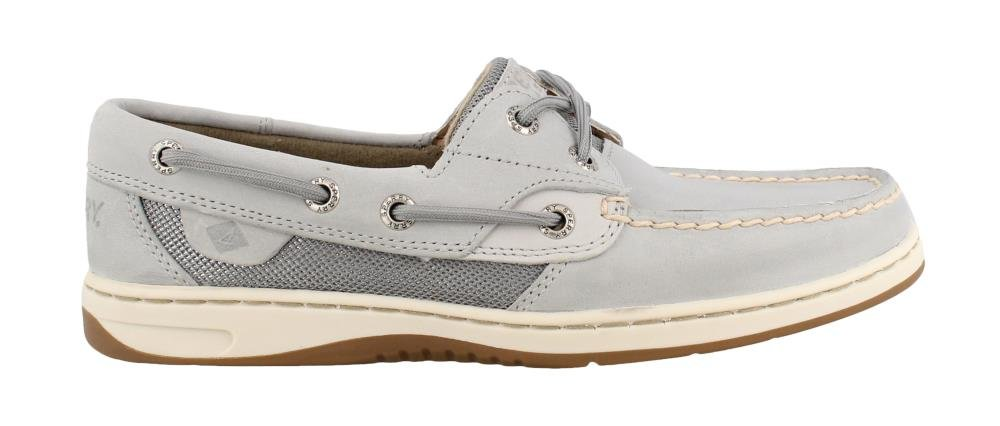Sperry Women's, Bluefish 2 Eye Boat Shoes Metallic MESH Grey 9.5 M by Sperry Top-Sider