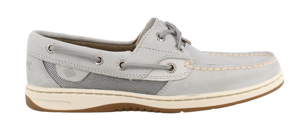 Sperry Women's, Bluefish 2 Eye Boat Shoes Metallic MESH Grey 6 M